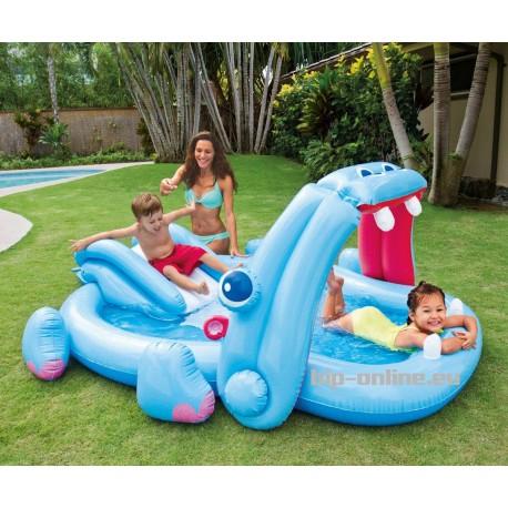 Детски басейн хипопотам с пързалка