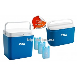 Хладилна кутия 24л + хладилна кутия 10л + 3 броя охладители