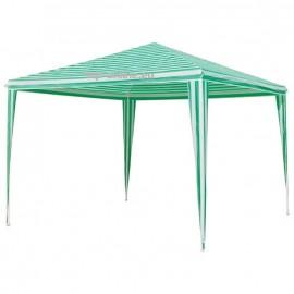 Градинска шатра павильон 3х3х2,5м бяло/зелено