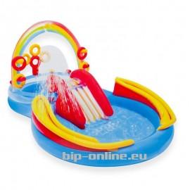 Надуваем басейн с пързалка и пръскащ ореол