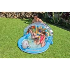 Надуваем басейн със сенник и делфин пръскащ вода