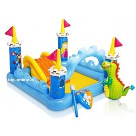 Детски басейн замък с дракон и пързалка