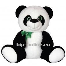 Панда със зелена панделка 50см