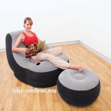 Надуваем фотьойл с табуретка INTEX