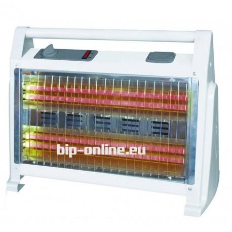 Кварцова печка с овлажняване на въздуха и вентилатор + дръжка