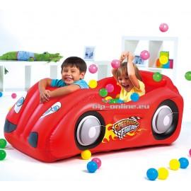 Комплект надуваема състезателна кола + 50 топки за игра