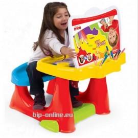 Детско бюро с работен плот и седалка