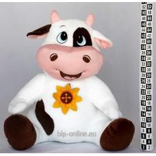 Крава с цвете 48см
