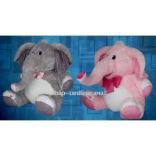 Седнал слон в два цвята