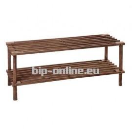 Дървена етажерка за обувки 64х26х30см