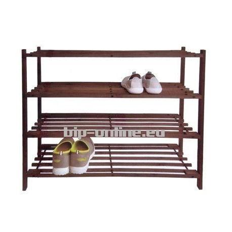 Дървена етажерка за обувки 66х26х66см